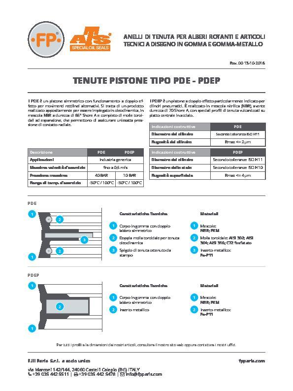 Immagine PDE-PDEP Tenute Pistone Info Tecnica_IT