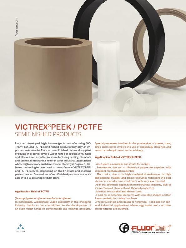 Immagine FLUORTEN Flyer Victrex® PEEK / PCTFE_EN