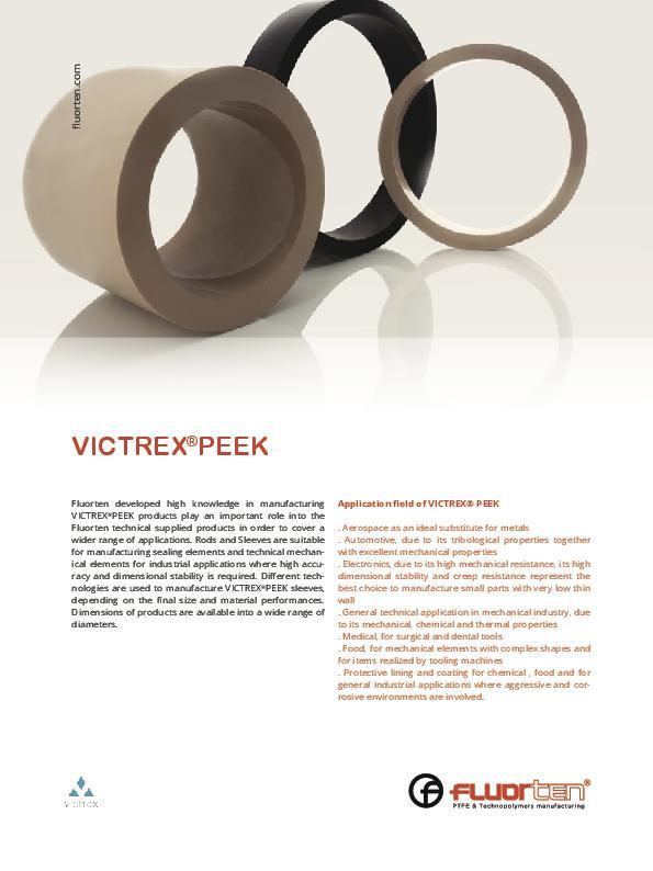 Immagine FLUORTEN Flyer Victrex® PEEK
