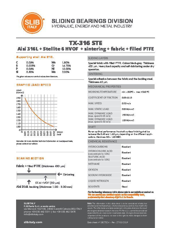 Immagine SLIBITALY_DataSheet_TX-316_STE_EN